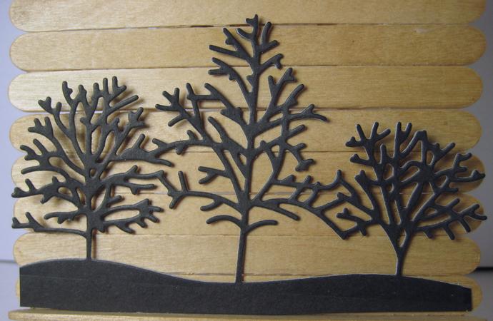 Row of Trees Cutting Die