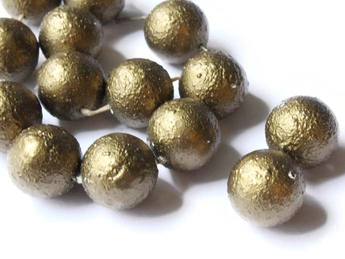 14 14mm Bronze Brown Rough Pearls Faux Pearl Beads Vintage New Old Stock Beads
