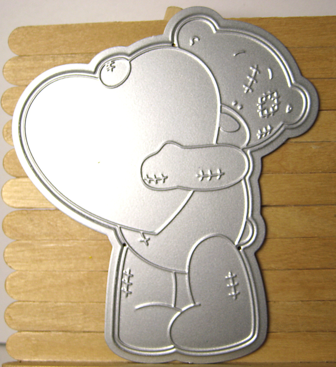 Bear with Heart Paper Cutting Die