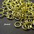 100 pcs 5mm Bright Gold Finish Jump Ring