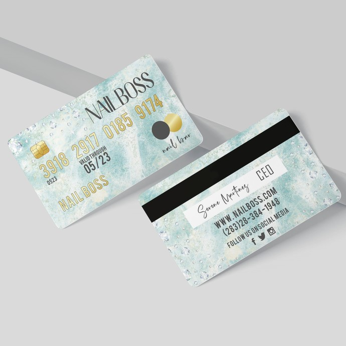 Marble Credit Card Business Cards, Diamond Credit Card business card BC13