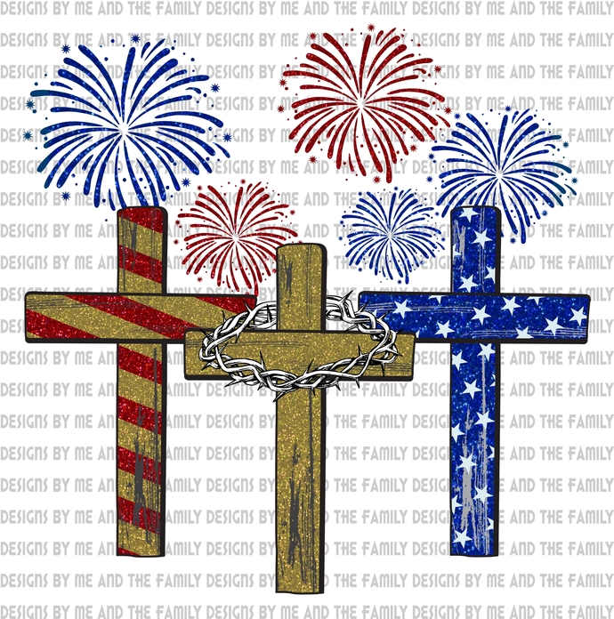 4th of July crosses, the cross we bare, God is good, old rugged cross, Way