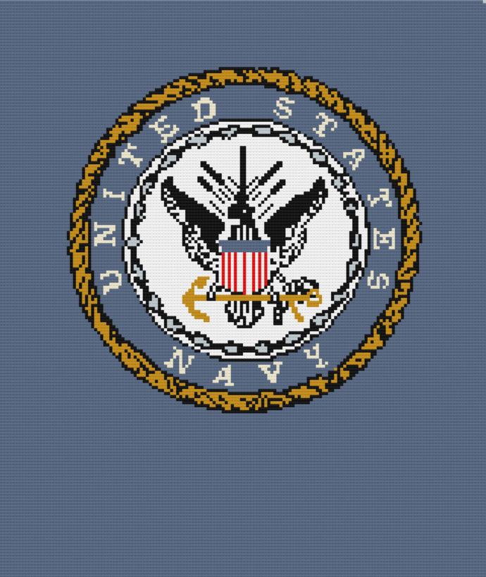United States Navy crochet pattern