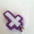 Cross Charms in Purple and White