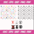 Pattern SVG Files For Silhouette, Files For Cricut, SVG, DXF, EPS, PNG Instant