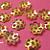 100 pcs Bright Gold Mini Flower 6mm Bead Cap
