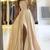 satin long prom dress champagne formal dress