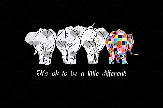 Autism Elephant Its Ok To be Different PNG