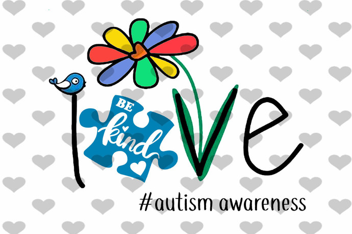 Be Kind Love Autism PNG
