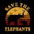 Save The Elephants Vintage PNG
