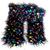 Crocheted Confetti on Black Scarf
