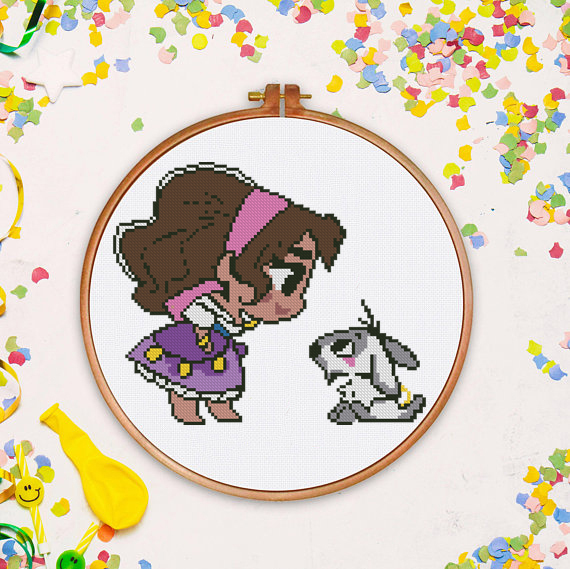 Tiny Princess counted cross stitch pattern kids princess fairy counted