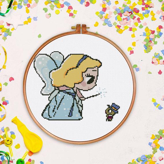 Tiny Princess counted cross stitch pattern kids princess fairy counted