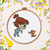 Tiny Girl counted cross stitch pattern kids princess fairy counted Silhouette