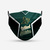 Oakland Athletics face mask, football, face protection, four layers, pleated,