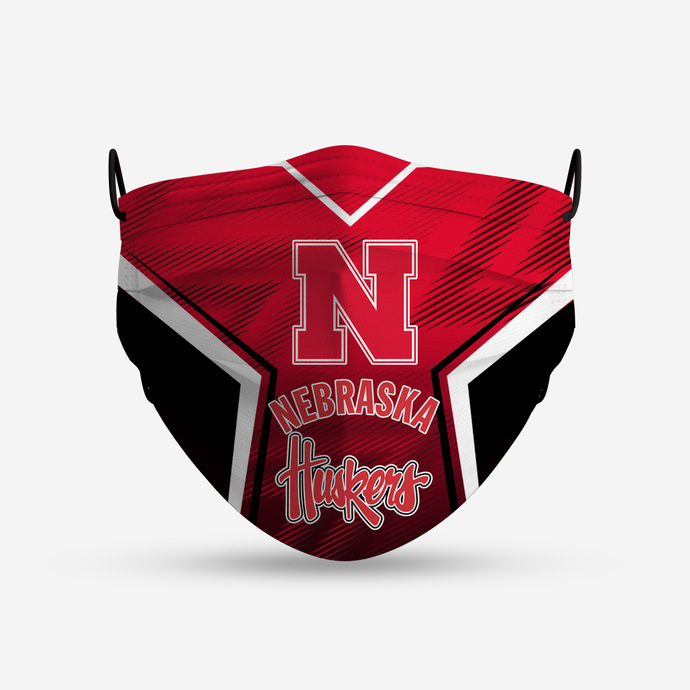 Nebraska Huskers Tide face mask, football, face protection, four layers,