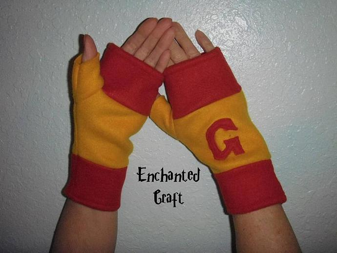 FLEECE GRYFFINDOR Fingerless Gloves