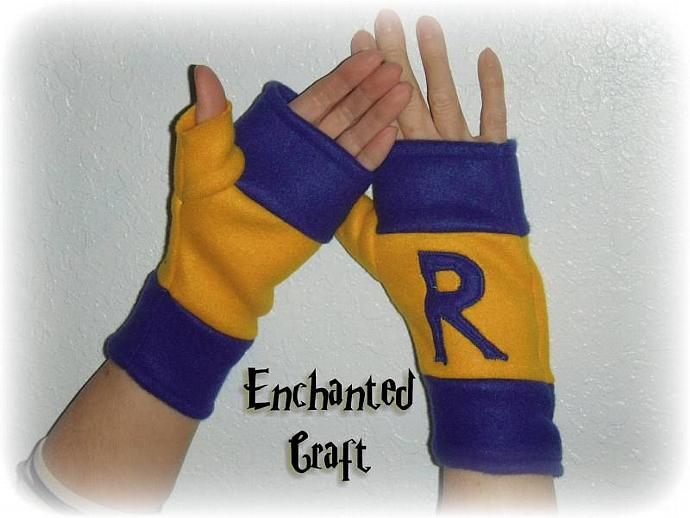 FLEECE RAVENCLAW Fingerless Gloves