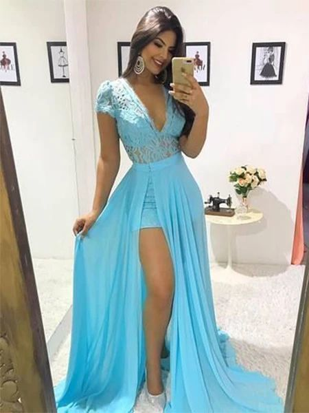 Chiffon Prom Dresses Formal Dresses Wedding Party Dresses M852