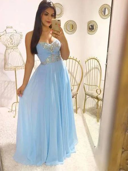 Beading Chiffon Formal Dresses Prom Dresses Wedding Party Dresses M854
