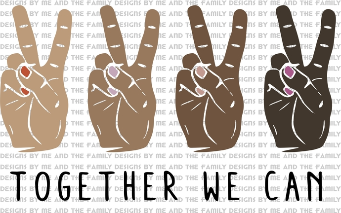 Together we can, BLM, #blm, if your not part of the solution you are part of the