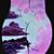 "12""x 12"" Print Purple Moonstoned Babe Acrylic Painting"