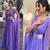 dubai fashion purple prom dresses 2020 v neck chiffon elegant simple cheap
