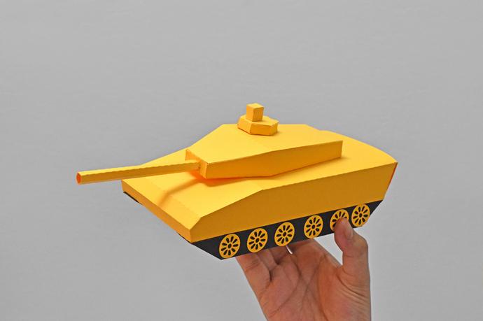 DIY Papercraft Tank favour,Army Tank favor,Lowpoly tank,3d Tank model,Party