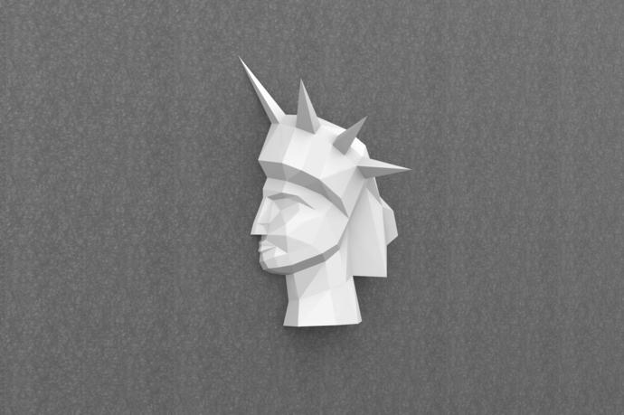 DIY Papercraft,Statue of Liberty Papercraft Trophy,Statue sculpture,Statue of