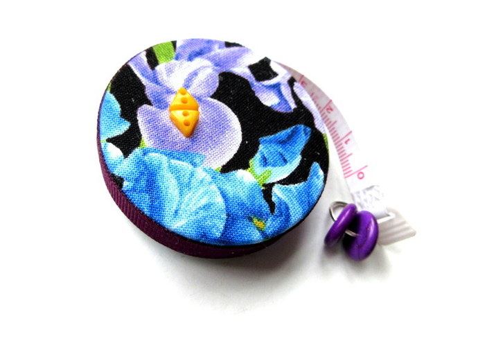 Tape Measure with Iris Flowers Small Retractable Measuring Tape