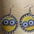 minion dangle earrings , Handmade dangle earrings