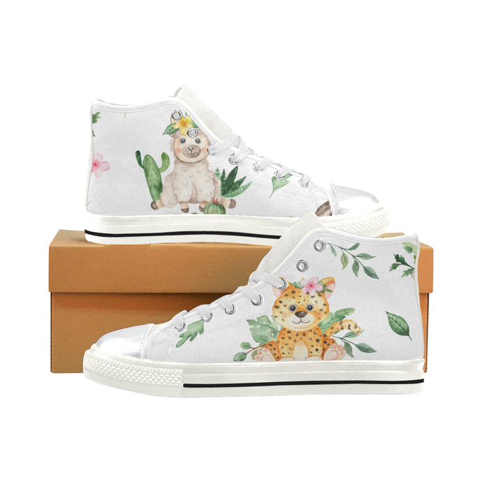 Animal Jungle High Top Canvas Shoes for Kid, Kid's Canvas Shoes