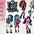 Monster High svg bundle, Monster High svg, dxf, eps, png files cor circut and