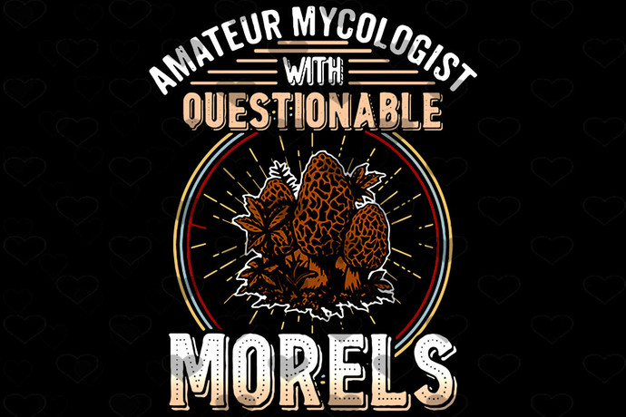 Amateur Mycologist Questionable Morels PNG, Funny PNG, Vintage PNG, Instant