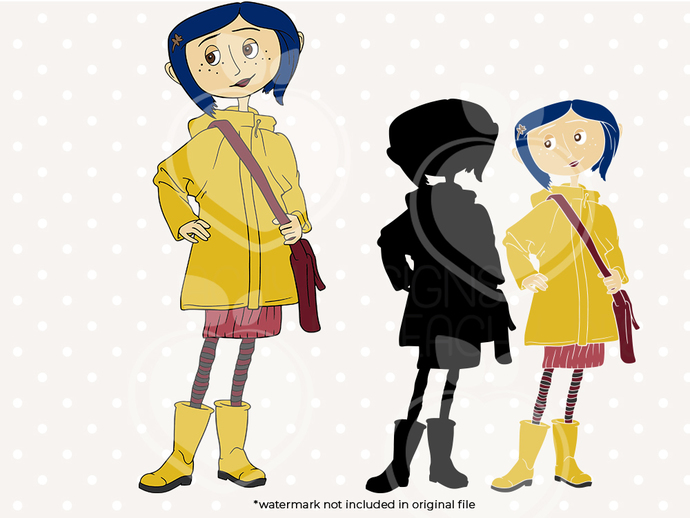 Coraline svg, Coraline svg, Coraline printable, cut files, dxf, eps png files,