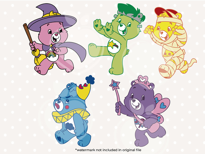 Carebears svg files, Carebears characters svg, clip art, cutfiles eps, dxf & png