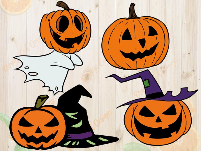 pumpkin svg files, pumpkin bundle, clip art, cutfiles eps, dxf & png files