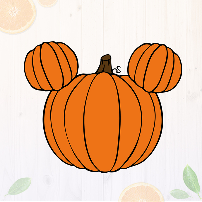 Pumpkin mickey shape svg files, Mickey Pumpkin, clip art, cutfiles eps, dxf &