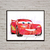 Cars Lightning McQueen Disney Pixar, Cars print, poster, nursery room, wall