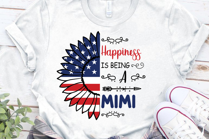 Happiness Is Being Mimi Svg 4th Of By Venusdigital On Zibbet