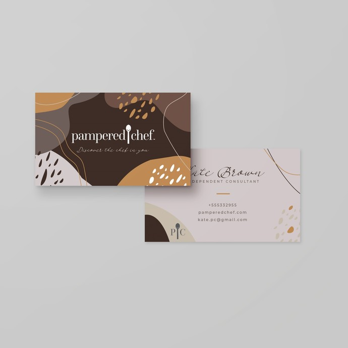 Abstract Pampered Chef business card, Personalized Pampered Chef Business Card
