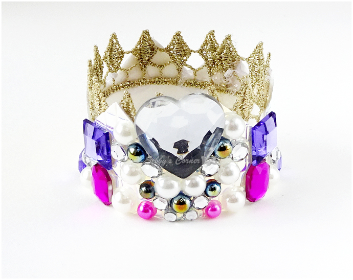 Queen of My Heart - Mini Crown for Pets, Decoden, Pet Accessories, Photo Props