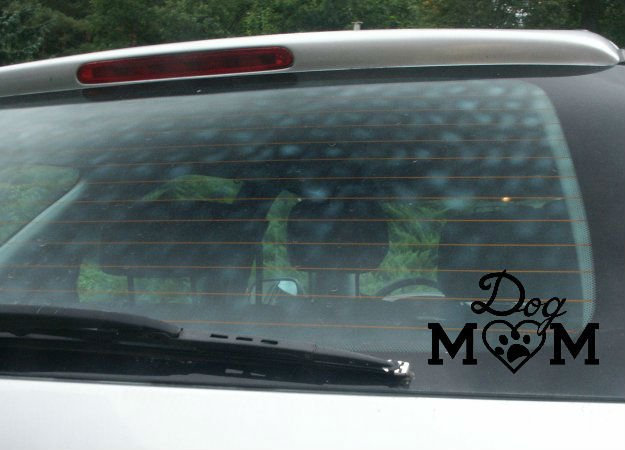 Dog Mom Car Decal, Van Decal, Funny Decal, Dog Decal, Adopt Decal, Animal Rescue