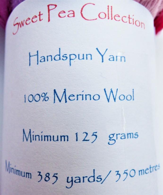 Handspun Yarn – 100% Merino Wool – 125 grams – Sport Weight – Sweet Pea