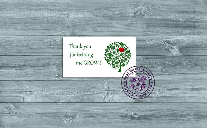 Teacher Thank You - Teacher Appreciation - Thank You for Helping me Grow -