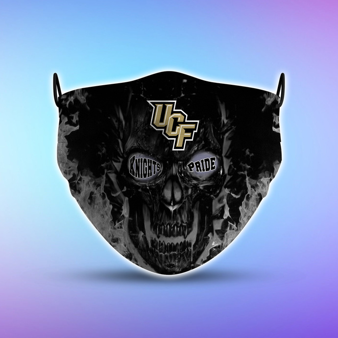 UCF Knights Pride face mask, football, face protection, four layers, pleated,