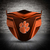 Clemson Tigers face mask, football, face protection, four layers, pleated,
