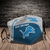 Detroit Lions face mask, football, face protection, four layers, pleated,