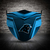 Carolina Panthers face mask, football, face protection, four layers, pleated,