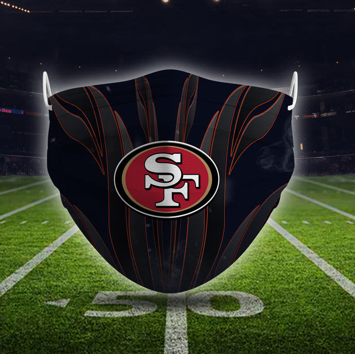 San Francisco 49ers Mask Sport, face mask, football, face protection, pleated,